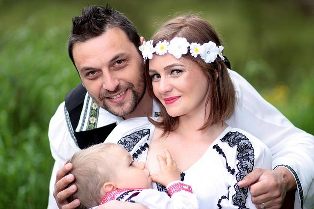 Family, Breastfeeding, Mom, Dad, Son
