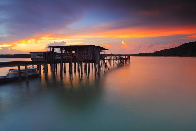 Sunset, Moment, Sea, Outdoors, Sunshine, Sunny