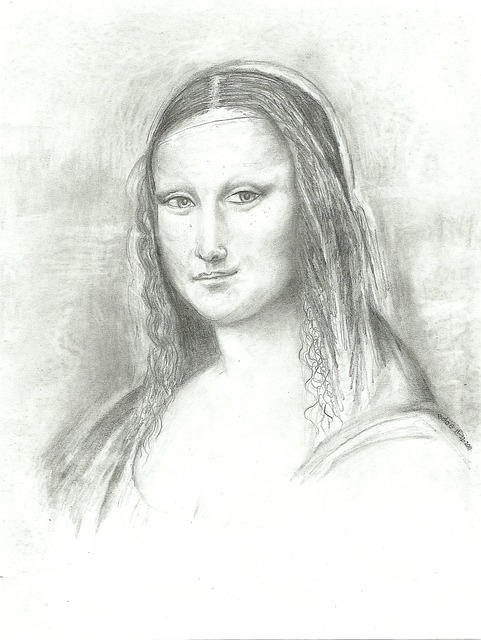 Mona, Lisa, Drawing, Leonardo, Smile, Vinci, Lady