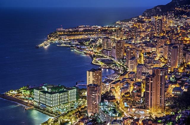 Monaco, Monte Carlo, France, Evening, Blue Hour