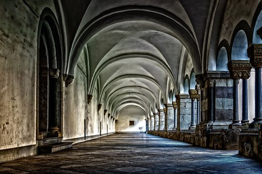 Monastery, Cloister, Abbey, Gang, Architecture, Vault