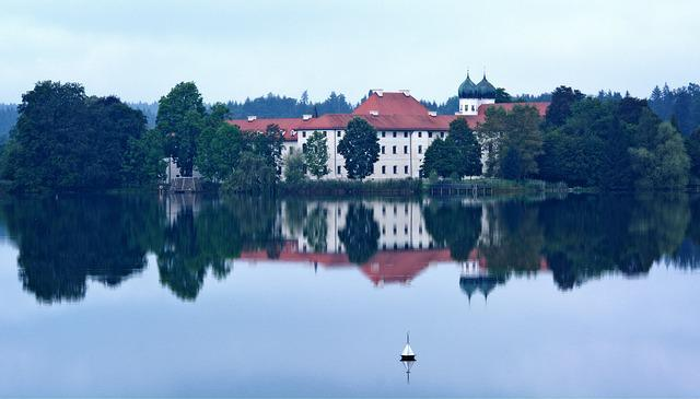 Monastery, Seeon, Upper Bavaria, Lake, Monastery Seeon
