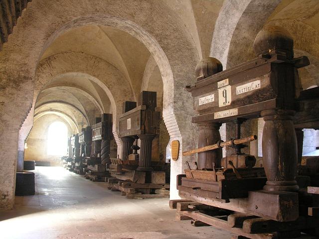 Monastery, Eberbach, Wine Press, Vault, Old, Medieval