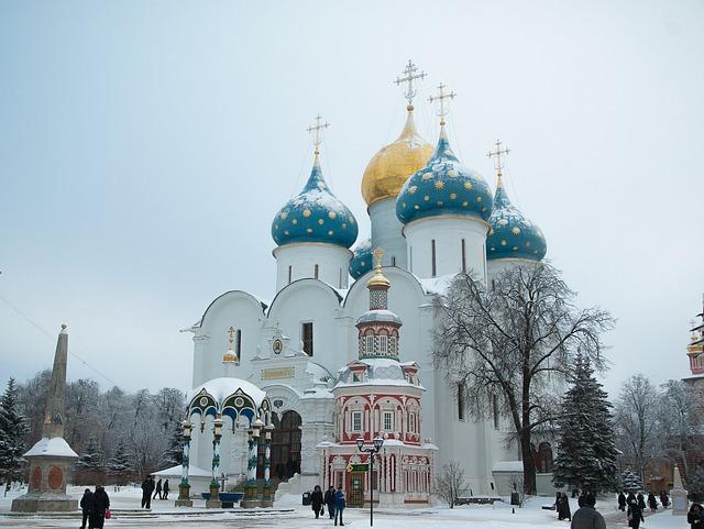Russia, Sergiev Posad, Monastery, Othodoxe, Cupolas
