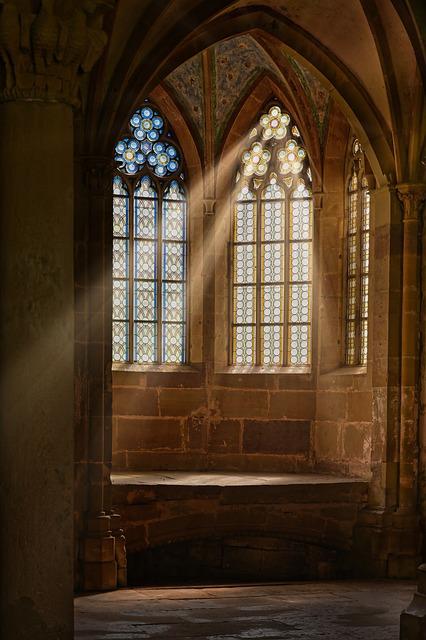 Church Window, Monastery, Window, Stained Glass