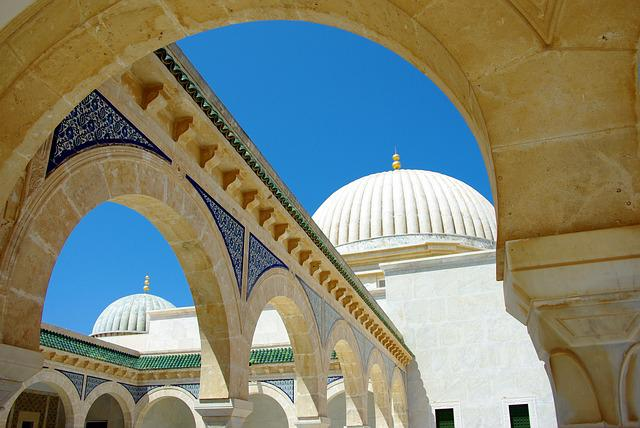 Tunisia, Monastir, Arcades, Dome, Mausoleum, Columns