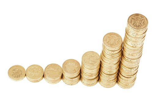 Money, Coins, Stack, Wealth, Finance, Bar, Business
