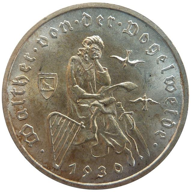 Reichsmark, Walther Von Der Vogelweide, Coin, Money