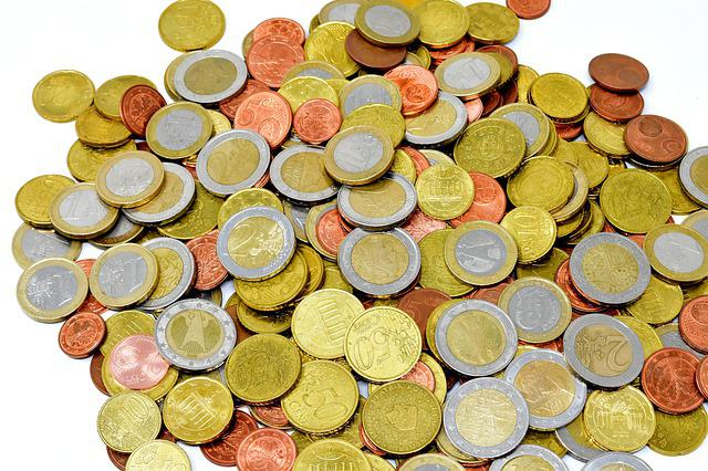 Coins, Money, Currency, Euro, Specie, Loose Change