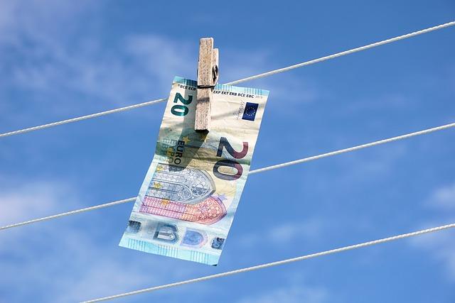 Euro, Clothes Line, Clothes Peg, Clip, Money, Bill