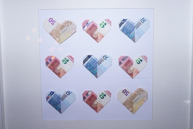 Bank Note Herzchen Money Gift Euro Idea