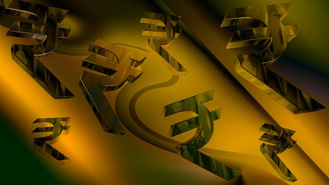 Money, Golden, Rupay, Rupees, Rupee Symbol, New