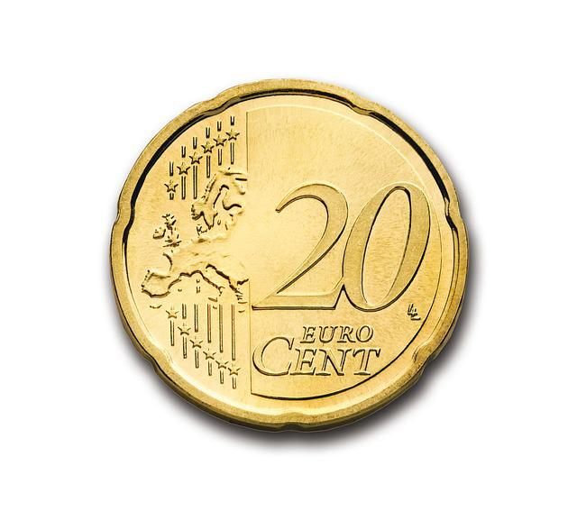 Cent, 20, Euro, Coin, Currency, Europe, Money, Wealth