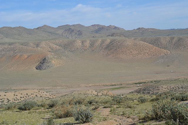 Mongolia, Altai, Steppe, Yurts