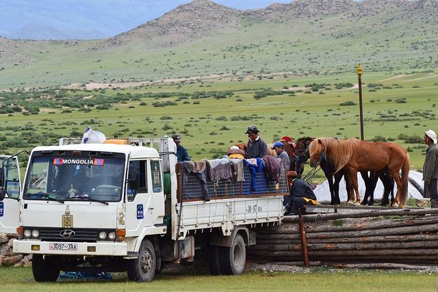 Mongolia, Steppe, Horses, Altai, Camoin