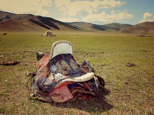 Saddle, Step, The Horse, Retro, Vintage, Mongolia