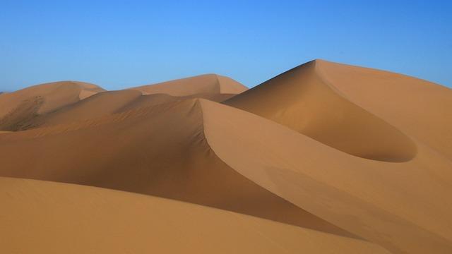 Mongolia, Sand Dune, Desert Landscape, Gobi