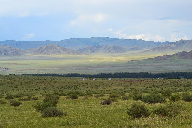 Mongolia, Steppe, Yurts, Altai