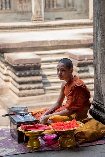 Monk, Religion, Buddhist, Temple