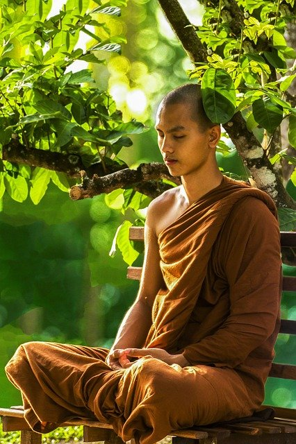 Monk, Meditate, Zen, Meditation, Monk Meditating