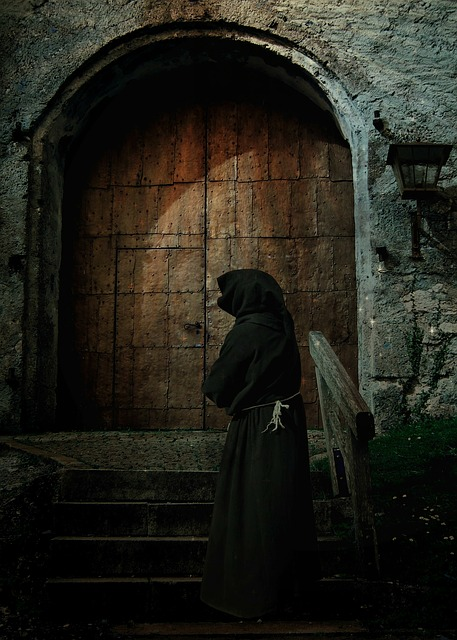 Goal, Monk, Person, Monastery, Wooden Door, Input