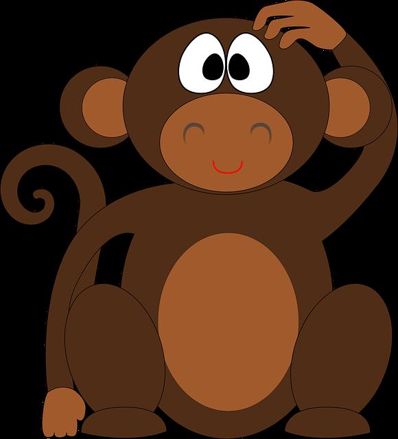 Monkey, Chimp, Ape, Chimpanzee, Animal, Cute, Cartoon