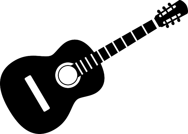 Guitar, Instrument, Acoustic, Band, Black, Mono