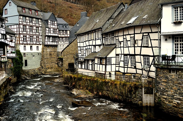 Monschau, Half-timbered Houses, Timber-framed
