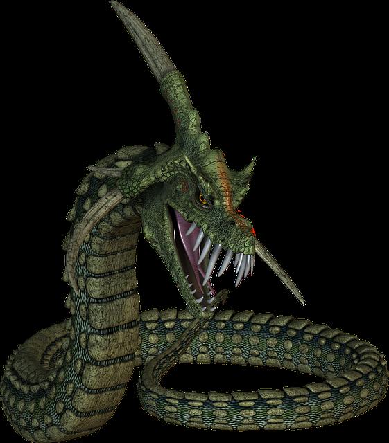 Dinokonda, Snake, Monster, Creature, Scary, Halloween