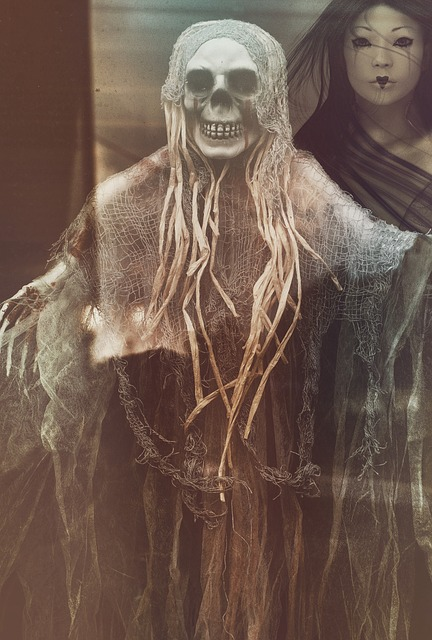 Dark, Monster, Woman, Skull, Mask, Scary Man, Eng