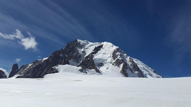 Mont Blanc Du Tacul, High Mountains, Alpine, Chamonix