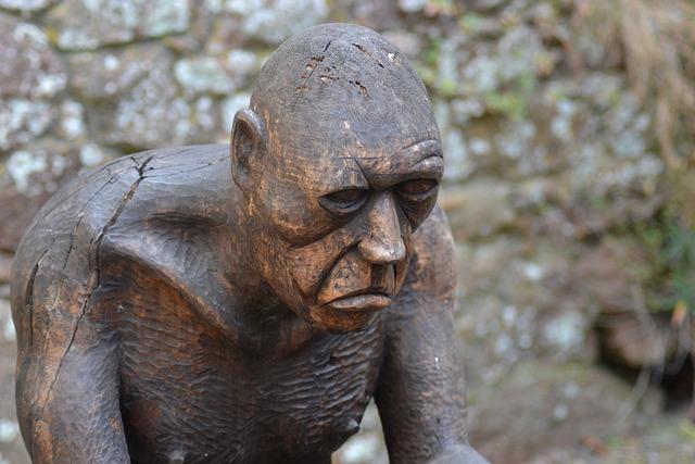 Prisoner Sculpture, Mont Orgueil Castle, Prison Tower