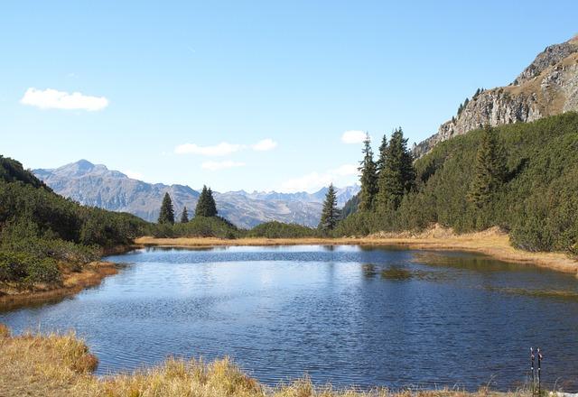 Mountain Lake, Water, Wiegensee, Montafon, Vorarlberg