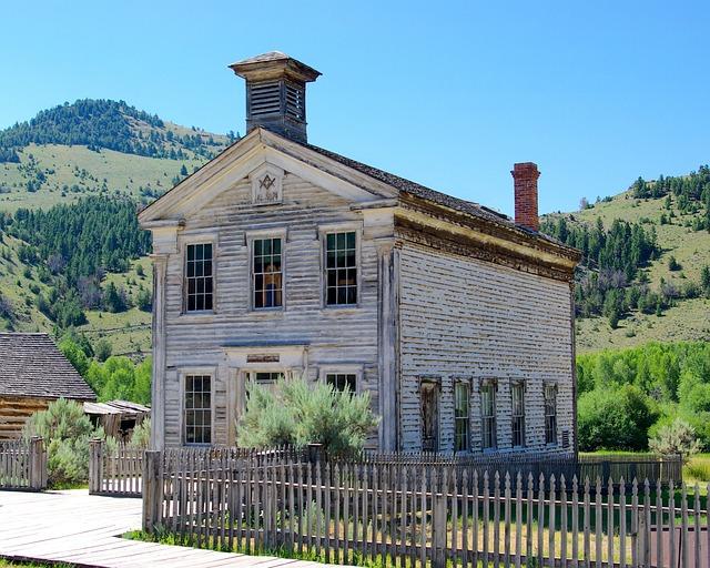 Masonic Lodge And Schoolhouse, Montana, Bannack