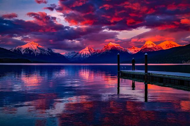 Lake Mcdonald, Glacier National Park, Montana, Water