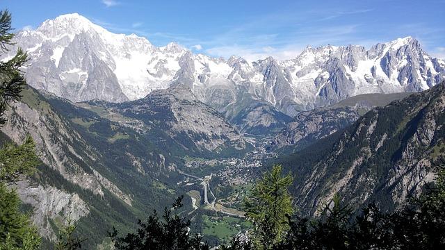 Courmayeur, Monti, Mont Blanc, Italy, Snow, Alps