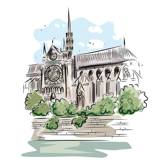 Notredame De Paris, Cathedral, Monument, Architecture