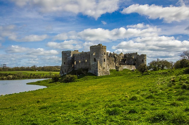 Carew Castle, Building, Monument, Wales, England