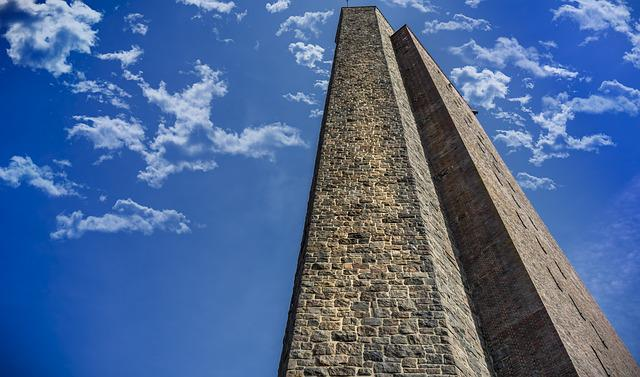 Tower, Monument, Sky, Cenotaph, Laboe, Clouds