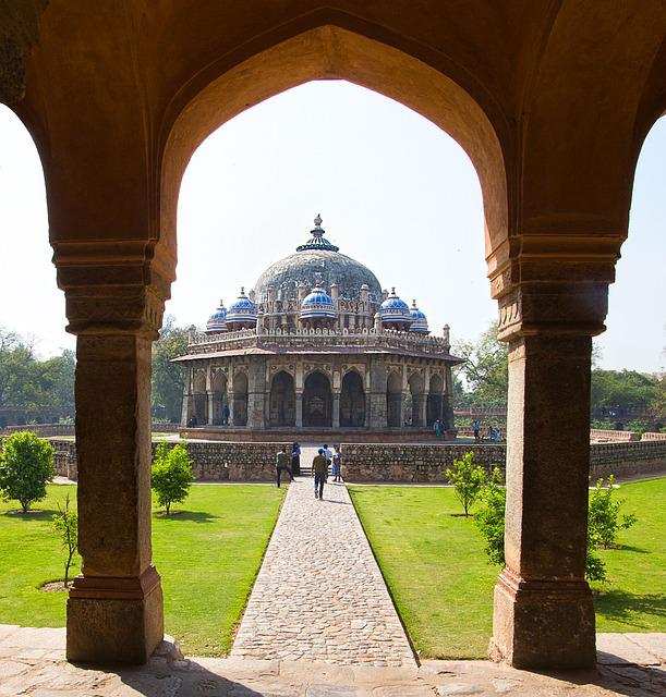 Isa Khan Tomb, Tomb, India, Delhi, Monument, Fort