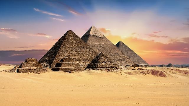 Pyramids, Egypt, Giza, Archeology, Monument
