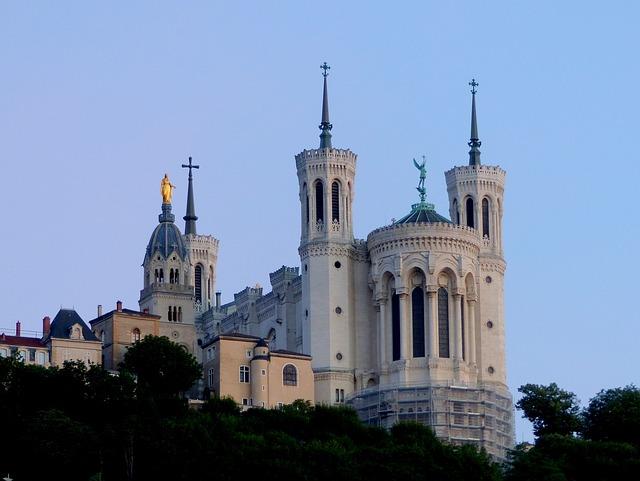 Basilica, Fourviere, Lyon, Monument, Architecture