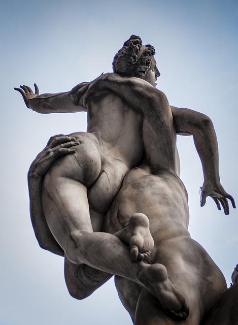 Statue, Italy, Sabinas, Monument, Europe, Architecture