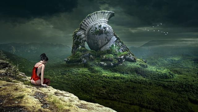 Fantasy, Landscape, Monument, Forest, Mystical