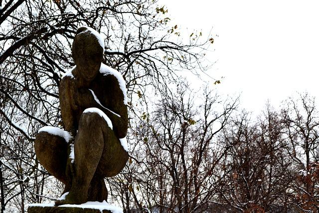 Sculpture, Prague, Monument, Prague In Winter, Woman