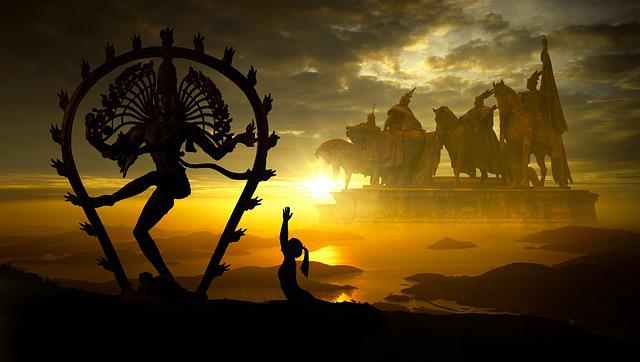 Fantasy, Religion, Sun, Monument, Prayer, Hinduism