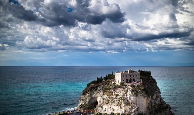Tropea, Calabria, Italy, Monument, Summer, Sea