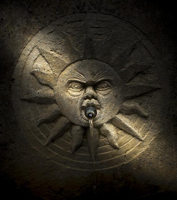 Source, Cano, Water, Sun, Jet, Monument, Spain