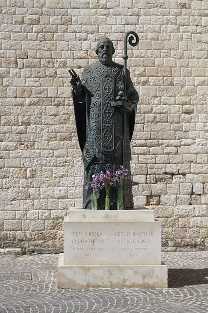 St Nicholas, Holy, Statue, Monument, Bari, Italy