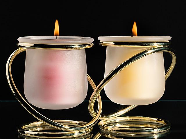 Candle, Mood, Candlelight, Romance, Gold